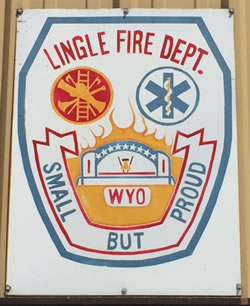 Lingle Fire Dept Sign